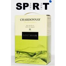 Вино белое Шардоне 3 литра (Bostavan Chardonnay 3л)