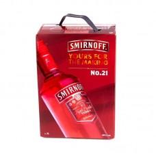 Водка Смирнов Клюква 3 литра (Smirnoff Cranberry 3л) тетрапак
