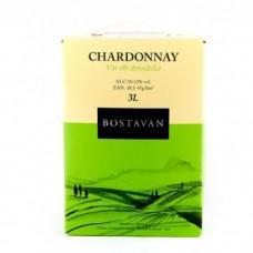 Вино белое Шардоне 3 литра (Bostavan Chardonnay 3л) тетрапак